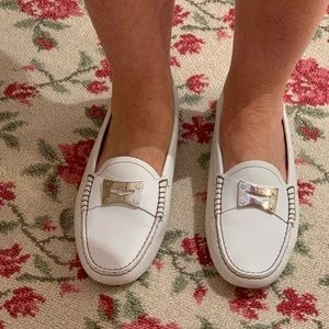 White TOD'S Driving Shoe